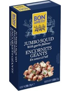 Kałamarnice z czosnkiem konserwa 120g BON APPETIT
