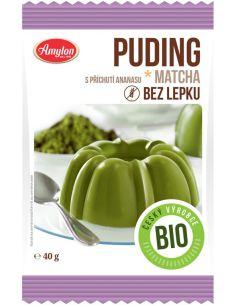 Budyń **Matcha** z zieloną herbatą bezglutenowy 40g*AMYLON*BIO
