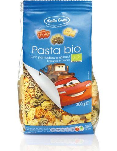Makaron pszenny **Disney Auta** dla dzieci kolorowy 300g*DALLA COSTA*BIO