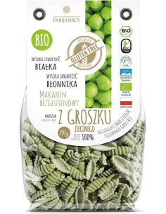 Makaron z groszku zielonego muszla bezglutenowy 250g FABIJAŃSCY BIO