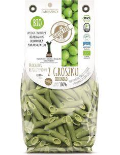 Makaron z groszku zielonego rurka bezglutenowy 250g FABIJAŃSCY BIO