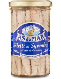 Makrela filety w oliwie słoik 150g*ÀSDOMAR*