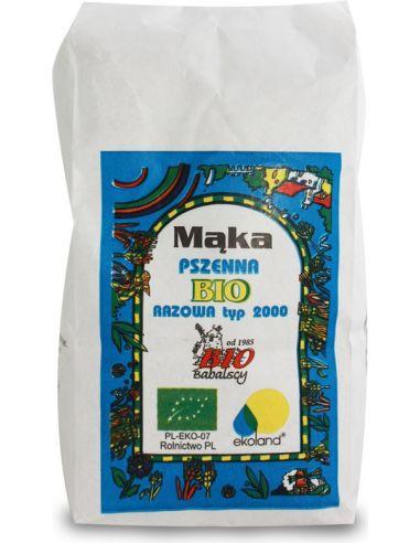 Mąka pszenna TYP 2000 razowa 1kg...