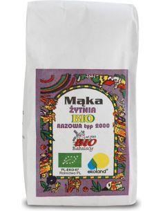 Mąka żytnia TYP 2000 razowa 1kg BABALSCY BIO