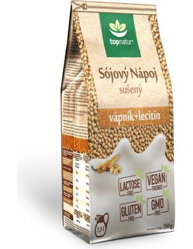 Napój sojowy naturalny / wapń / lecytyna bezglutenowy w proszku 350g*TOPNATUR*