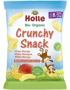 Chrupki **Crunchy Snack** jaglane / mango 25g*HOLLE*BIO