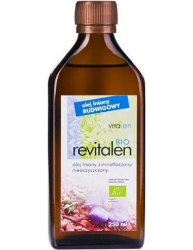 Olej lniany do diety dr Budwig nieoczyszczony 250ml*REVITALEN*BIO