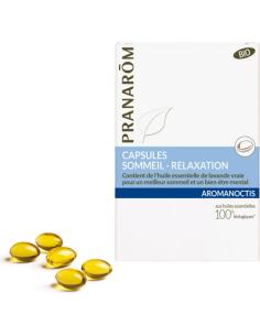 Mieszanka olejków eterycznych *Aromanoctis / Sen / Relaks* kapsułki 30szt PRANARÔM BIO