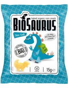 Chrupki kukurydziane bezglutenowe solone 15g*BIOSAURUS*BIO