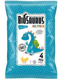 Chrupki kukurydziane bezglutenowe solone 4 x 15g*BIOSAURUS*BIO