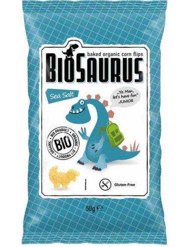 Chrupki kukurydziane bezglutenowe solone 50g*BIOSAURUS*BIO