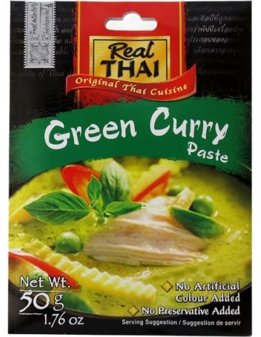 Pasta curry zielone 50g REAL THAI