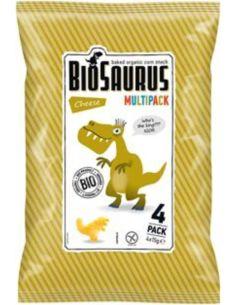Chrupki kukurydziane bezglutenowe z serem 4 x 15g*BIOSAURUS*BIO