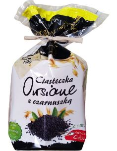 Ciasteczka owsiane z czarnuszką bezcukrowe 150g*ANIA*