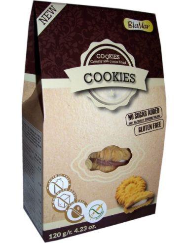 Ciastka **Cookies** z kremem bez dodatku cukru 120g*COOKIES BIAMAR*