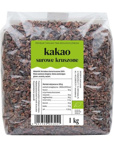 Kakao surowe kruszone 1kg DETAL BIO