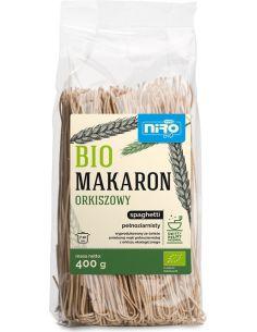 Makaron orkiszowy pełnoziarnisty spaghetti 400g*NIRO*BIO