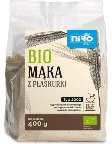 Mąka z płaskurki TYP 2000 400g*NIRO*BIO