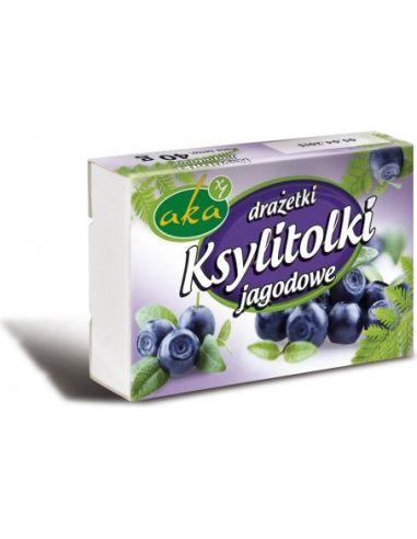 Cukierki Ksylitolki jagodowe 40g AKA