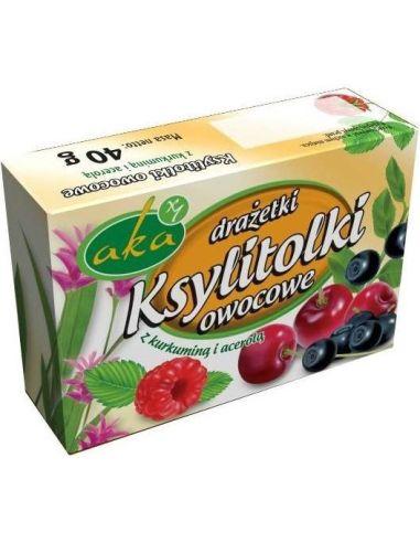 Cukierki Ksylitolki owocowe 40g AKA