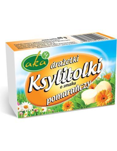 Cukierki Ksylitolki pomarańczowe 40g AKA