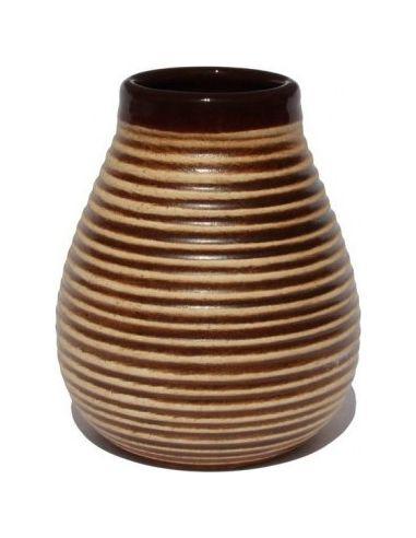 Matero ceramiczne prążek brązowe 250ml