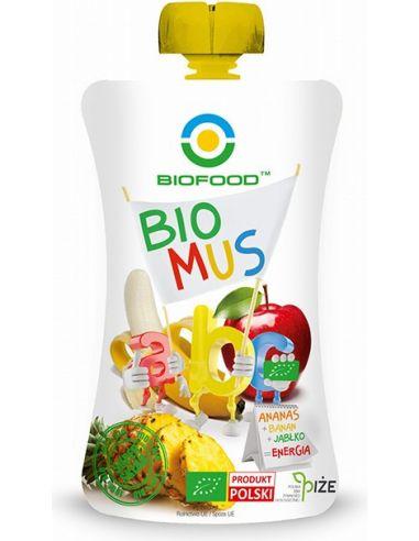 Mus owocowy Energia ananas + banan + jabłko 90g BIOFOOD BIO