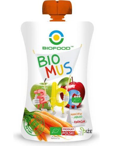 Mus owocowy Energia marchew + jabłko 90g BIOFOOD BIO