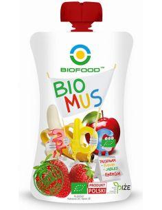 Mus owocowy Energia  truskawka + banan + jabłko 90g BIOFOOD BIO