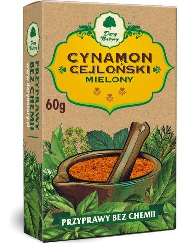 Cynamon cejloński mielony 60g*DARY...