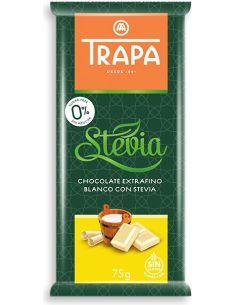 Czekolada biała słodzona stewią 75g*TRAPA*