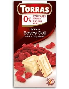 Czekolada biała z jagodami goji bezglutenowa 75g*TORRAS*