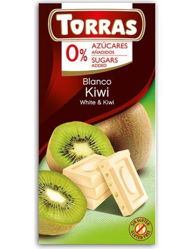 Czekolada biała z kiwi bezglutenowa 75g*TORRAS*
