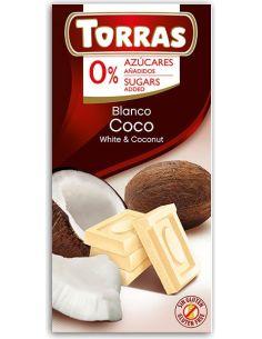 Czekolada biała z kokosem 75g*TORRAS*
