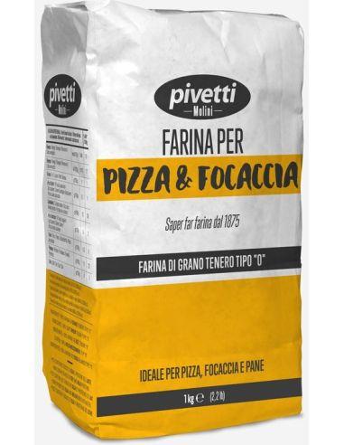 Mąka pszenna TYP 0 do pizzy 1kg*PIVETTI*