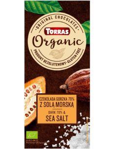 Czekolada gorzka 70% /sól morska bezglutenowa 100g*TORRAS*BIO