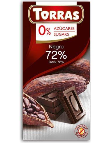Czekolada gorzka 72% kakao 75g*TORRAS*