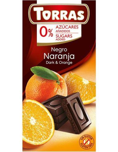 Czekolada gorzka z pomarańczą 75g TORRAS