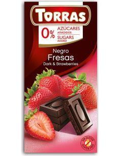Czekolada gorzka z truskawkami bezglutenowa 75g*TORRAS*