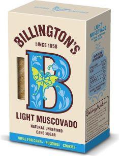 Cukier trzcinowy Muscovado jasny 500g BILLINGTON'S