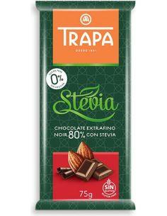 Czekolada gorzka 80% słodzona stewią 75g*TRAPA*