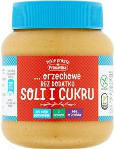 Masło orzechowe bez dodatku soli i cukru 350g*PRIMAVIKA*