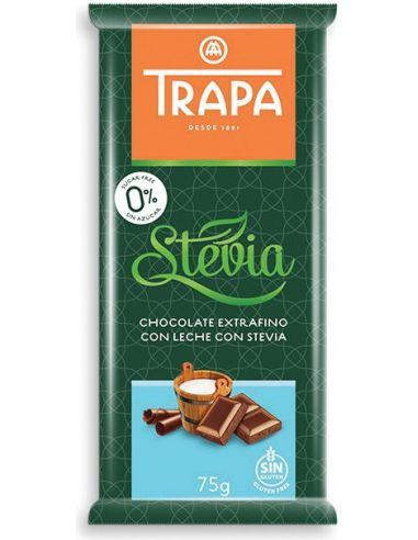 Czekolada mleczna słodzona stewią 75g*TRAPA*