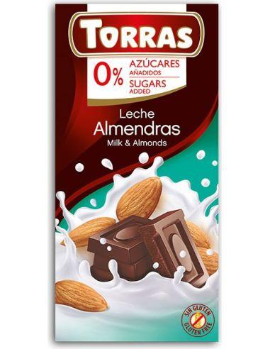Czekolada mleczna z migdałami 75g*TORRAS*