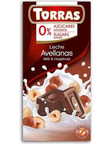 Czekolada mleczna z orzechami laskowymi 75g*TORRAS*