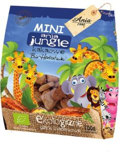 Herbatniki kakaowe **Mini ZOO** 100g*ANIA*BIO