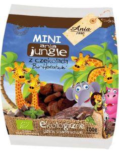 Herbatniki pszenne z czekoladą **Mini Zoo** 100g*ANIA*BIO