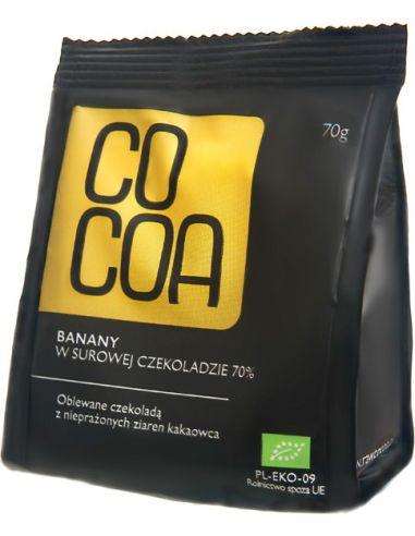 Banany w surowej czekoladzie 70g*COCOA*BIO