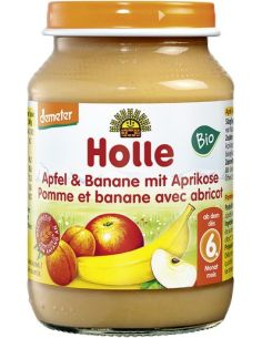 Deser jabłko / banan / morela słoik 190g*HOLLE*BIO DEMETER