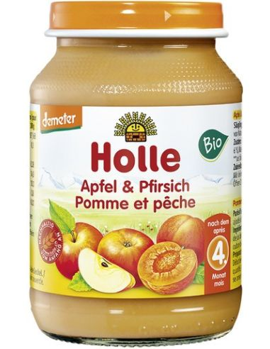 Deser jabłko / brzoskwinia 190g*HOLLE*BIO DEMETER TERMIN:  31.10.2022